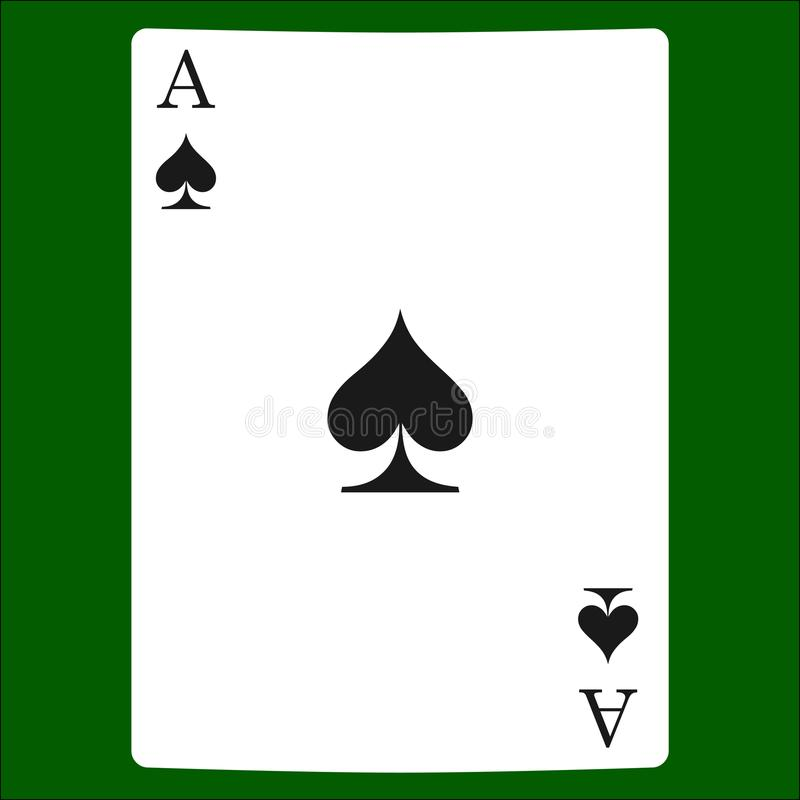 Spades Card Suit Icon Playing Cards Symbols Stock Illustration