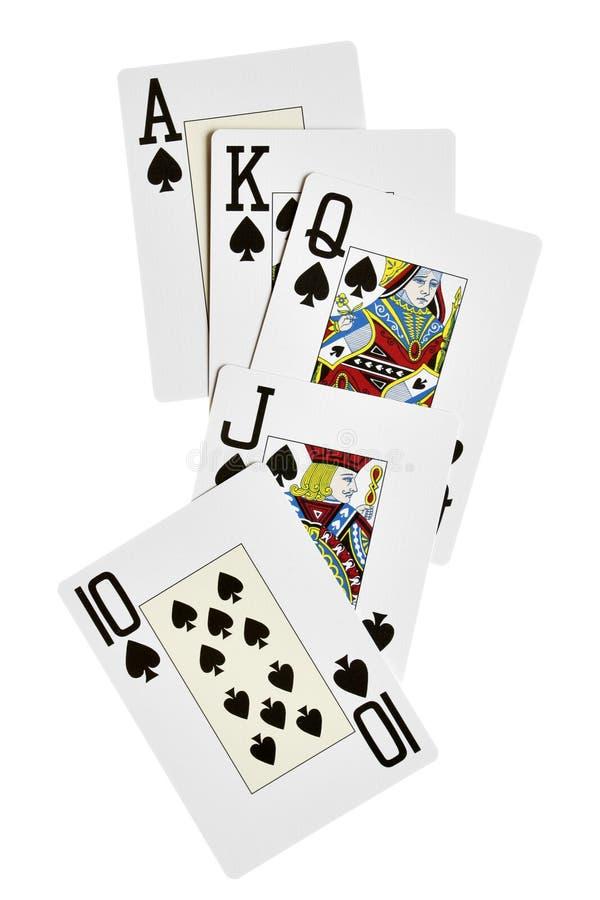Spades Royal Flush Royalty Free Stock Images