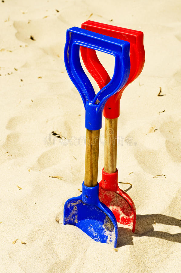Download Spades in sand stock image. Image of objects, beaches - 14450653