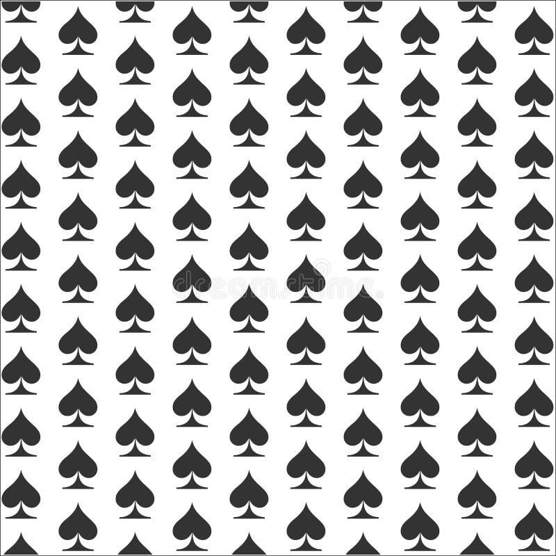 Spadesachtergrond Het pictogram van het kaartkostuum stock illustratie