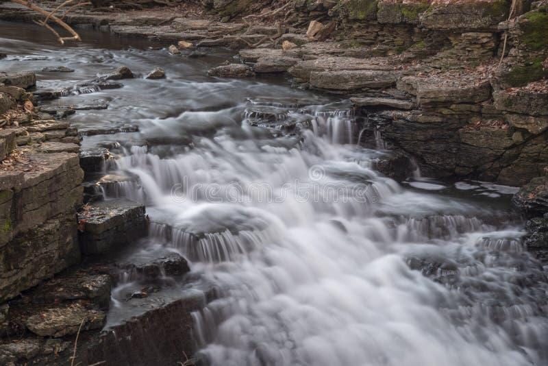 Spadki lokalizować w środkowym Ohio obraz royalty free