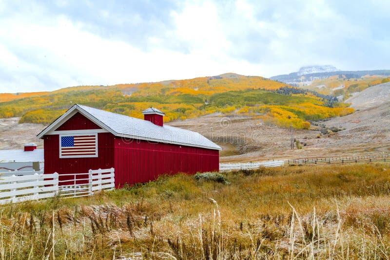 Spadku śnieg w Kolorado i kolor obraz royalty free
