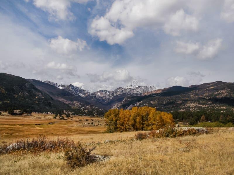 Spadku dzień w Skalistych górach obraz royalty free