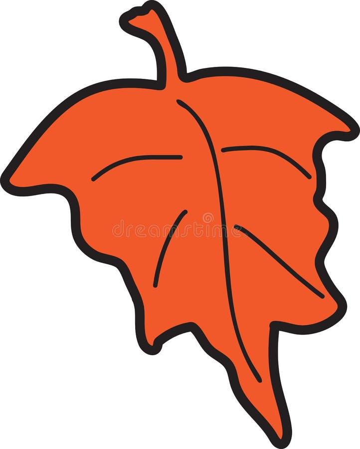 Spadku liścia ikona ilustracja wektor