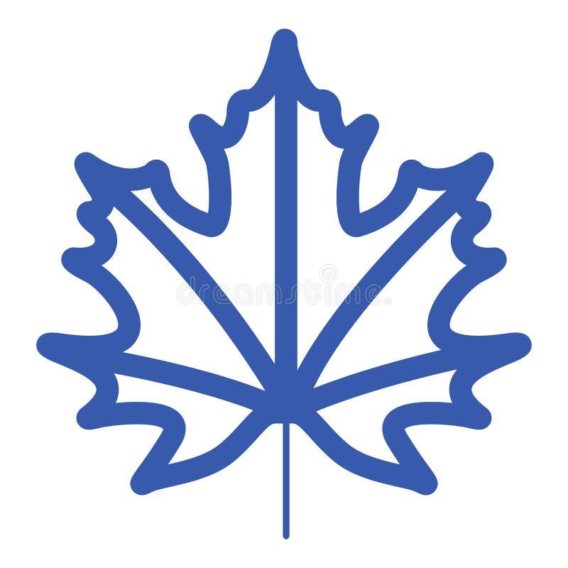 Spadku liścia ikona royalty ilustracja
