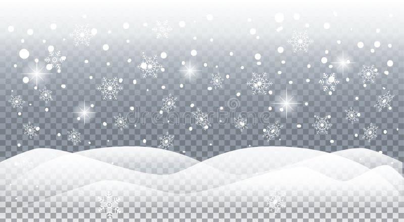 spadnie śnieg royalty ilustracja