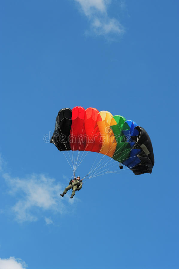 spadochronowy mężczyzna parachutist zdjęcie royalty free
