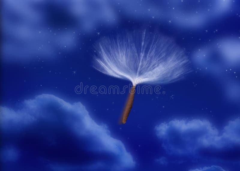 spadochronowy strąka ziarna wiatr obraz stock