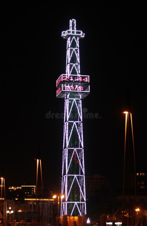 Spadochronowy wierza w Baku zdjęcie stock