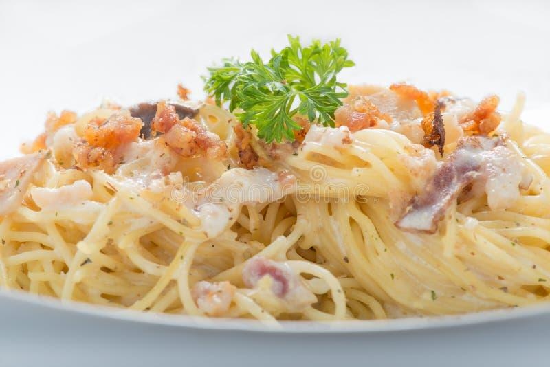 Spagetti Carbonara arkivbild