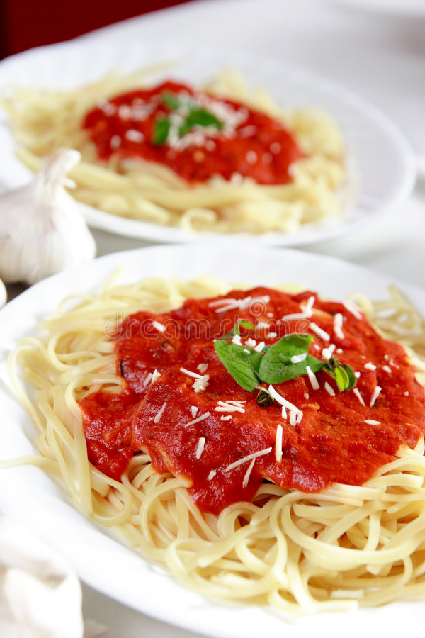 Spagetti dinner royalty free stock photos