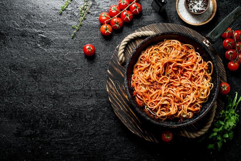 Spagetti med Bolognese s arkivbild