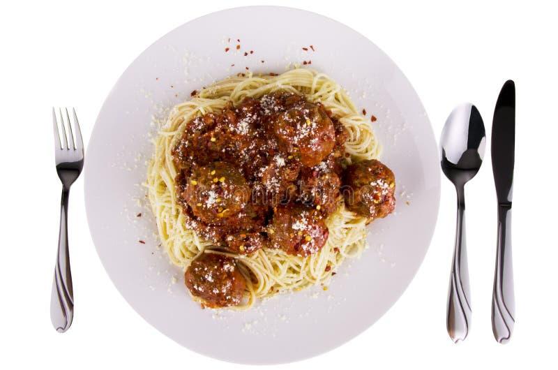 Spagettiköttbullar royaltyfri foto