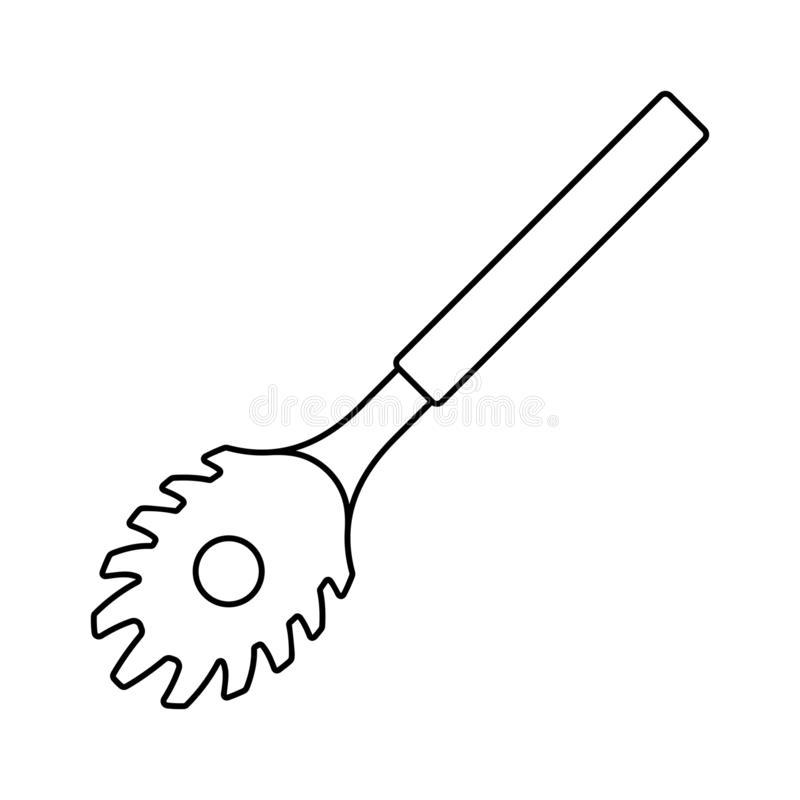 Spagettiskedsymbol royaltyfri illustrationer