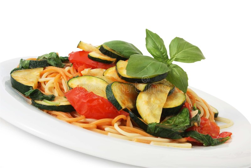 spagettivegetarian royaltyfri bild
