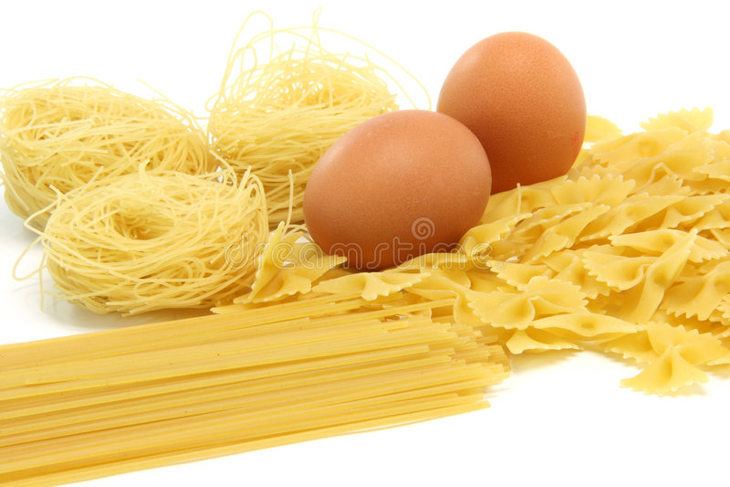 Spagheti asortment Eier stockfoto