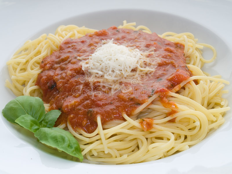 Download Spaghett with tomato sauce stock photo. Image of tomato - 7159134