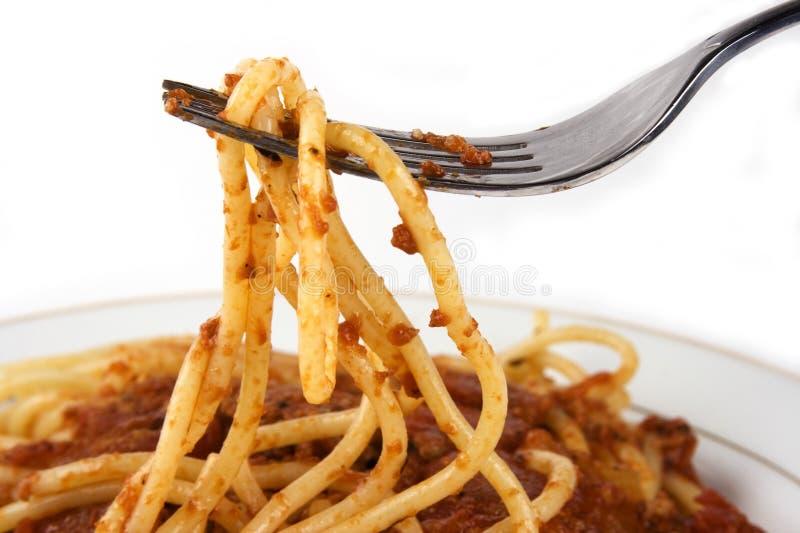 Spaghetti stock afbeelding