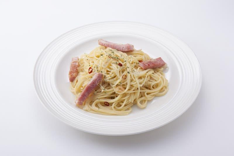Spaghetti aglio e olio peperoncino royalty free stock image