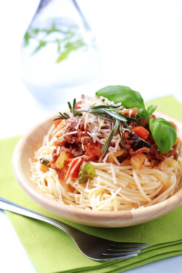 Download Spaghetti alla Bolognese stock photo. Image of onion - 14192682