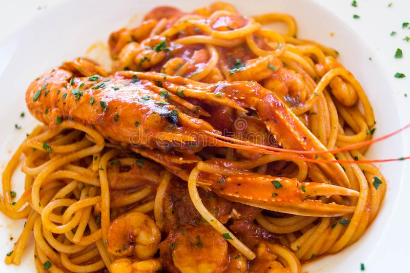 Spaghetti alla busara. An Italian specialty royalty free stock image