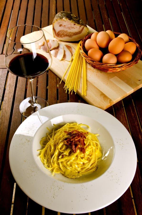 Download Spaghetti alla carbonara stock photo. Image of parmesan - 28141898
