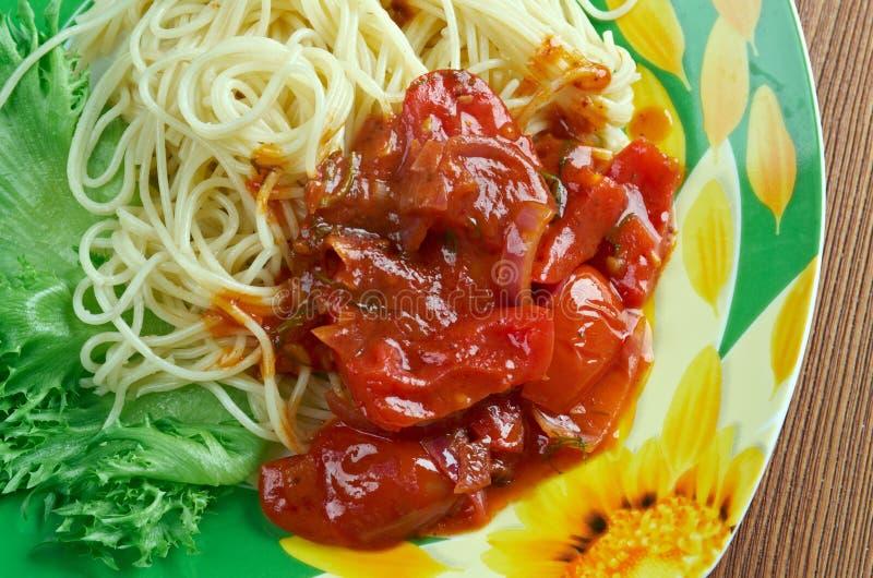 Download Spaghetti alla carrettiera obraz stock. Obraz złożonej z naczynie - 57668405