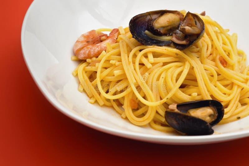 Spaghetti Allo Scoglio Stock Images