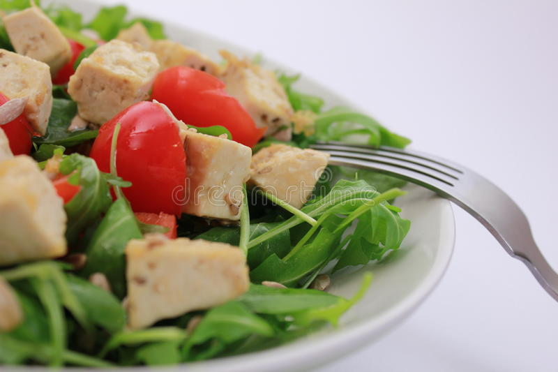 Tofu salad royalty free stock image