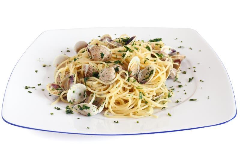 Spaghetti avec des palourdes photo libre de droits