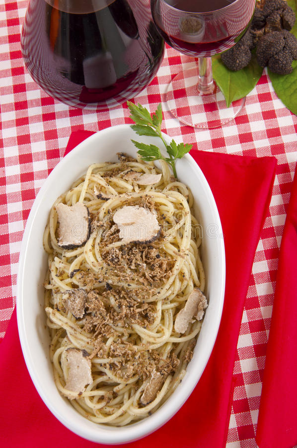 Download Spaghetti With Black Truffles Stock Image - Image: 25542257