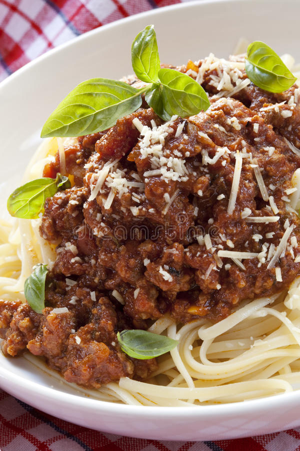 Download Spaghetti Bolognese stock photo. Image of pasta, photograph - 14861072