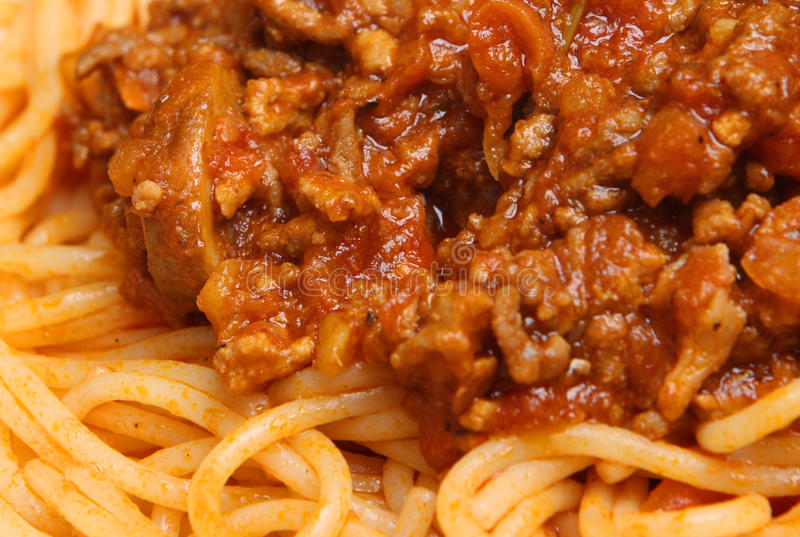 Download Spaghetti Bolognese stock image. Image of dinner, ground - 17899749