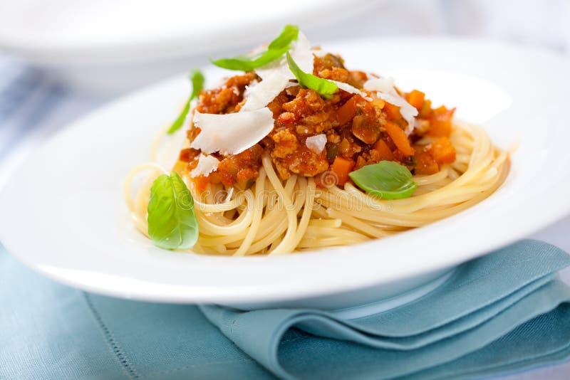 Spaghetti Bolognese royalty-vrije stock afbeeldingen