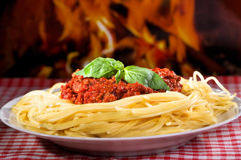 Download Spaghetti bolognese stock photo. Image of lunch, healthy - 26499238