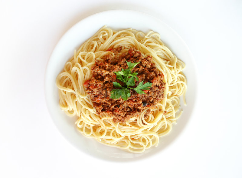 spaghetti bolognese zdjęcia stock