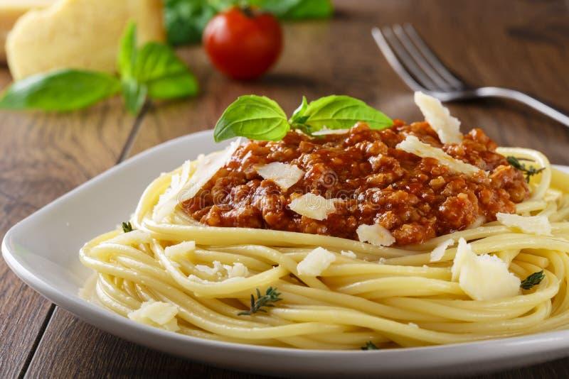 spaghetti bolognese obrazy royalty free