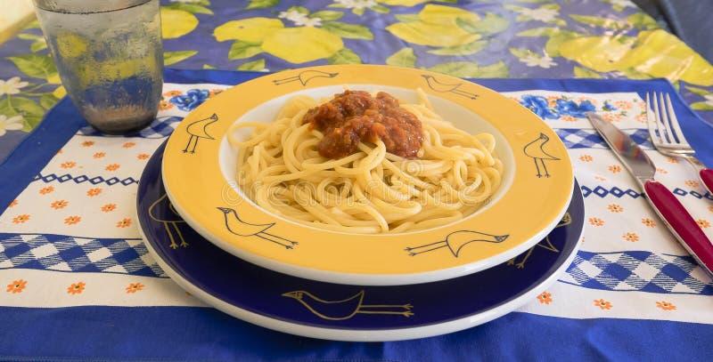 Spaghetti bolognese fotografia stock