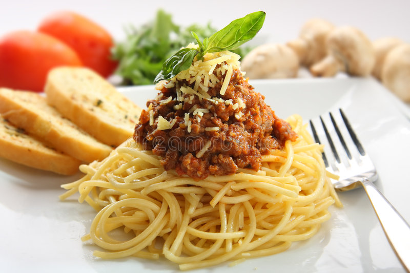 Download Spaghetti bolognese stock photo. Image of lunch, menu - 7472862