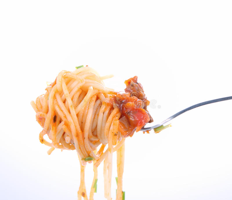 Download Spaghetti Bolognese On Fork Stock Image - Image of cooking, food: 18138355