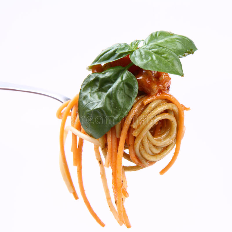 Download Spaghetti Bolognese On A Fork Stock Photo - Image: 21061474