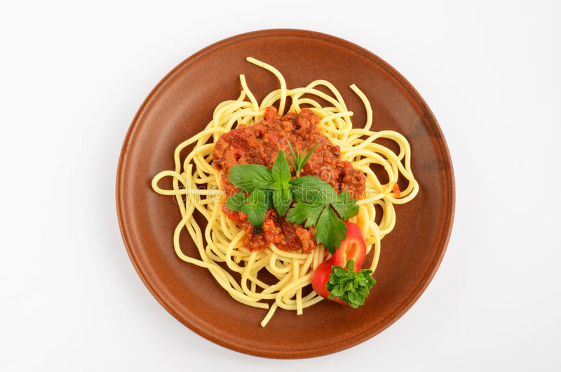 Download Spaghetti Bolognese 1 stock photo. Image of macro, celery - 33872956