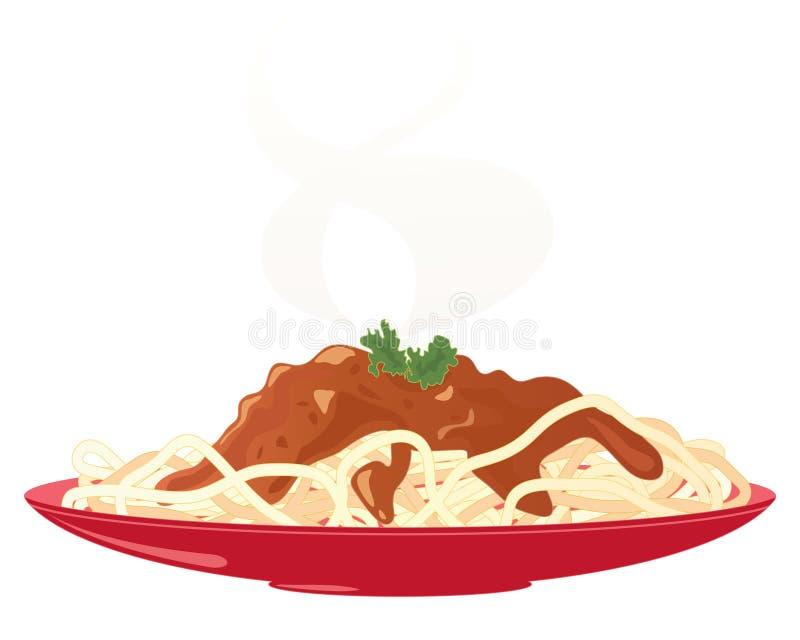 Download Spaghetti bolognese stock vector. Image of spaghetti - 33964676