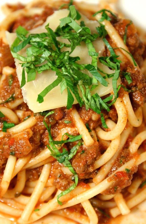 spaghetti bolognese mieszane obraz royalty free