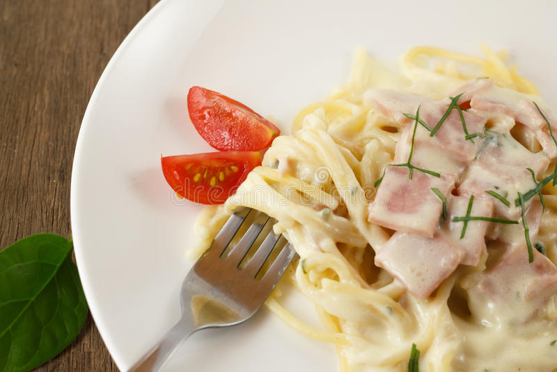 Spaghetti Carbonara photo stock