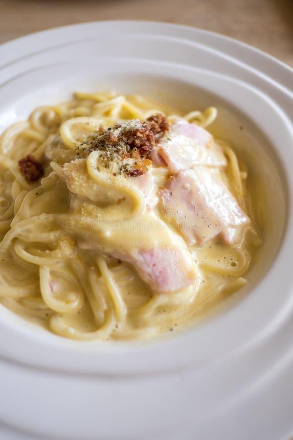Spaghetti Carbonara royalty-vrije stock afbeelding