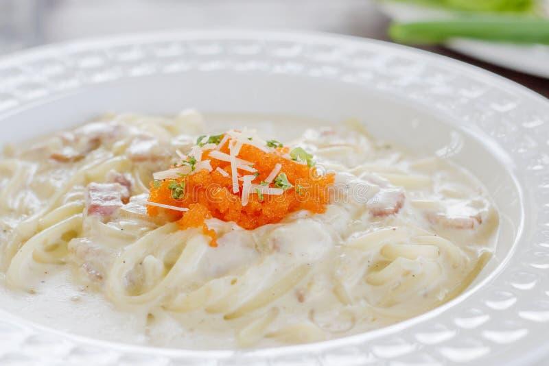 Spaghetti Carbonara image stock