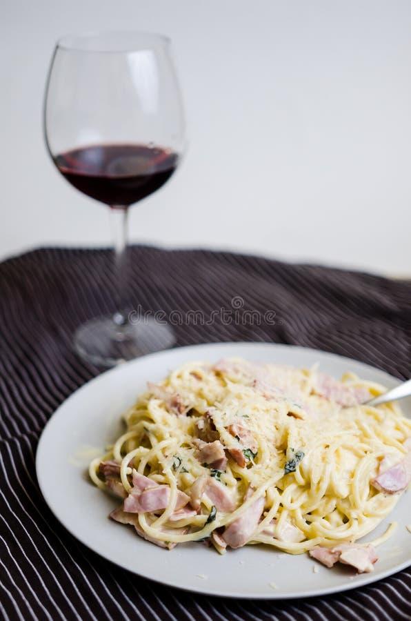Spaghetti Carbonara royalty-vrije stock fotografie