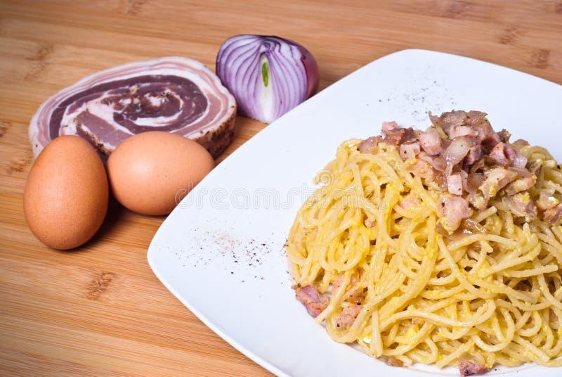 Download Spaghetti carbonara stock photo. Image of main, lunch - 38126306
