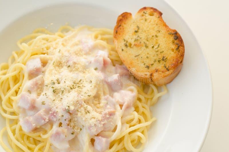 Spaghetti carbonara royalty free stock image